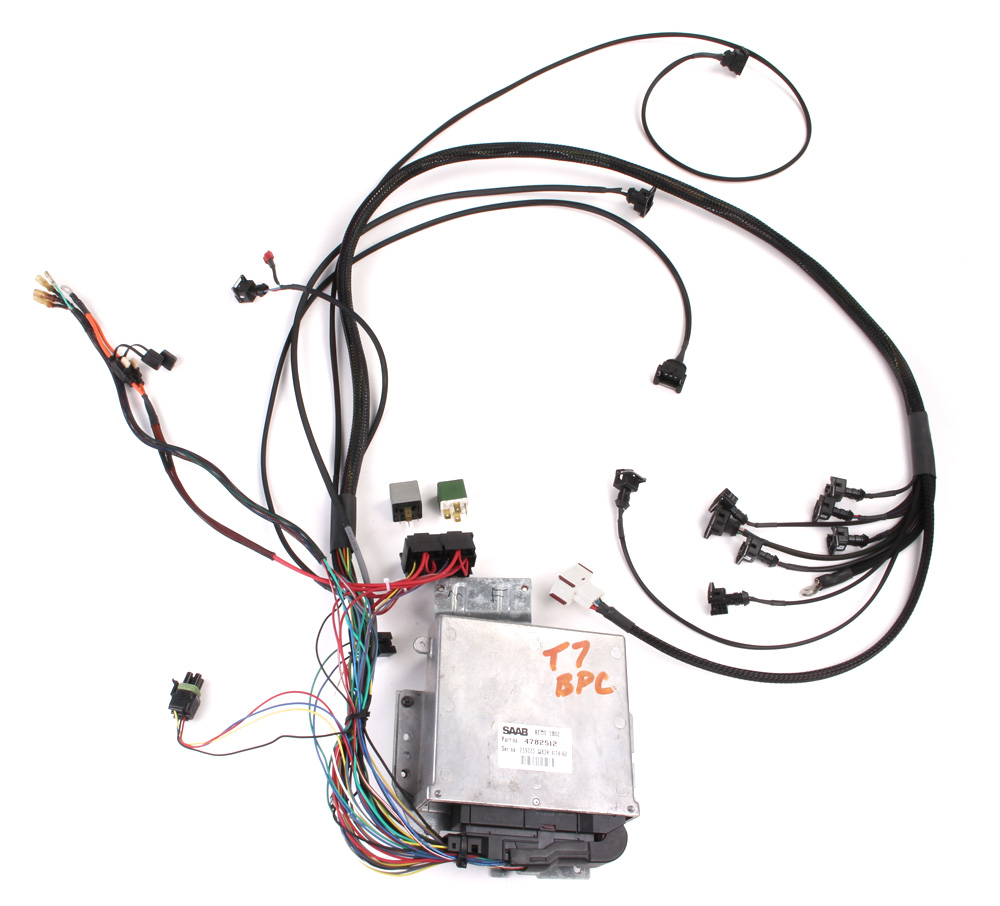 saab trionic 5 conversion wiring harness t5 c900 eeuro 101e00010 free shipping available