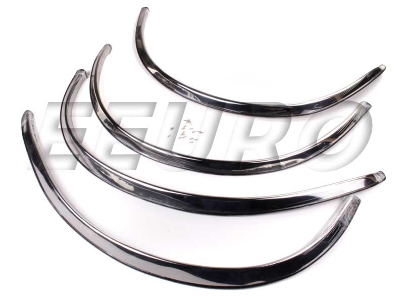 Mercedes benz fender trim chrome uro parts mb045 for Mercedes benz chrome accessories