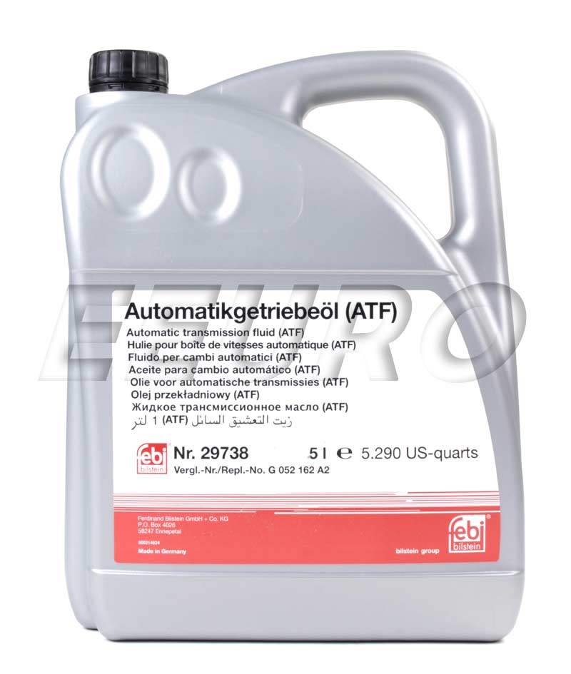 Audi bmw volkswagen auto trans fluid atf 5 liter febi 29738 free shipping available