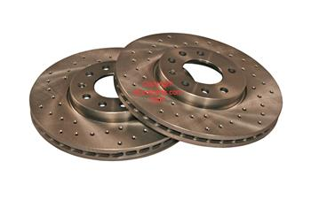 Image of Disc Brake Rotor - Front (Cross-Drilled Pair) part number 32025723CZD