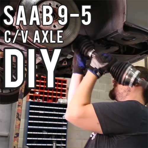 Saab 9-5 Axle Replacement DIY