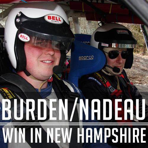 Burden/Nadeau Rally Sprint 2 A Win In New Hampshire!