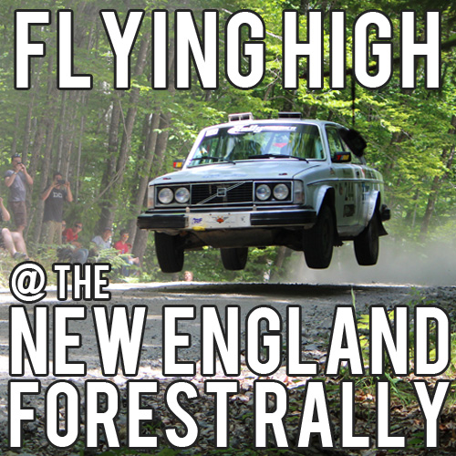 Flying High At The 2015 New England Forest Rally