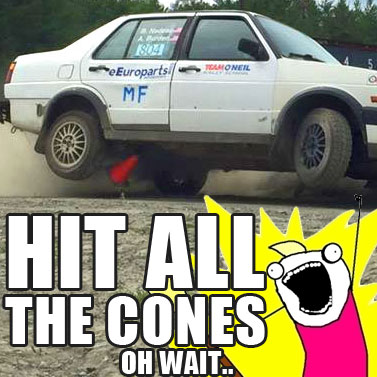 The Rally Jetta Hits All The Cones