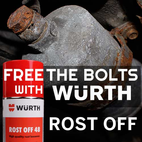 Free Rusty, Stuck Bolts With Wurth Rost Off (Yes ROST Off) – Rust Penetrating Oil