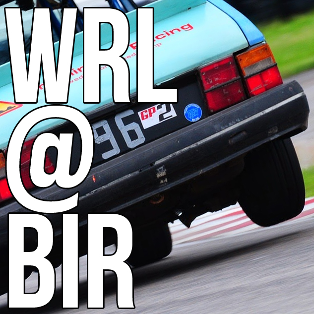 It's raining. It's pouring. The old Saab is eating up the race track!  WRL @ BIR