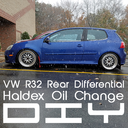 VW R32 Rear Differential Fluid and Filter DIY