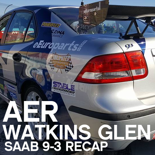 "The eEuroparts.com Saab 9-3 Debuts at ""The Glen"""
