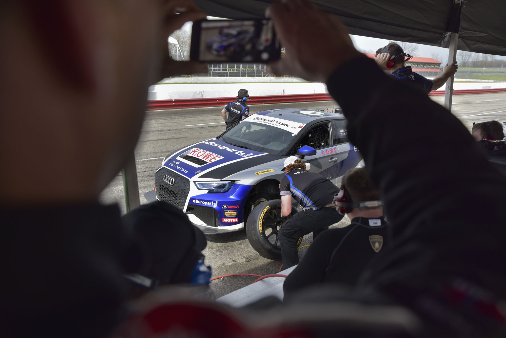 eEuroparts.com ROWE Racing Audi RS 3 LMS Practice Pit Stop