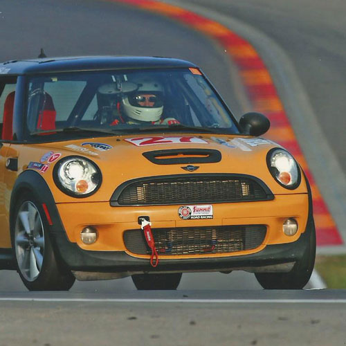 Testing the MINI at the New York Safety Track