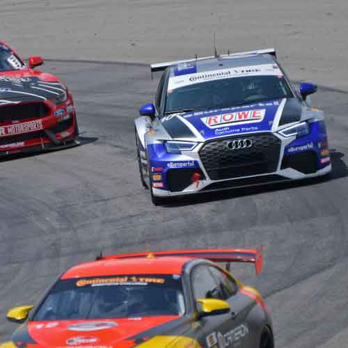 Racing with ROWE Motor Oil and Audi Genuine Parts