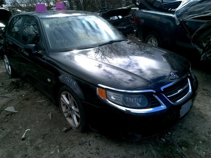 Saab 9-5 in the junkyard