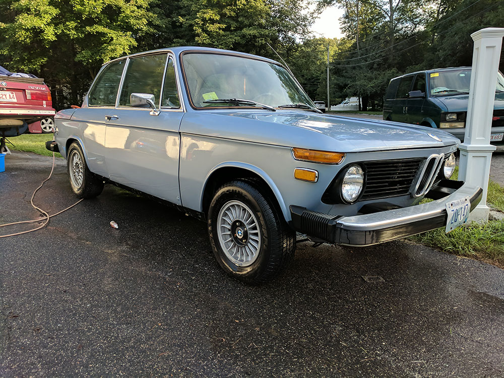 Clean BMW 2002 Front Blue