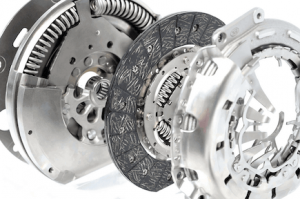 Complete clutch assembly with the friction plate and dual mass flywheel