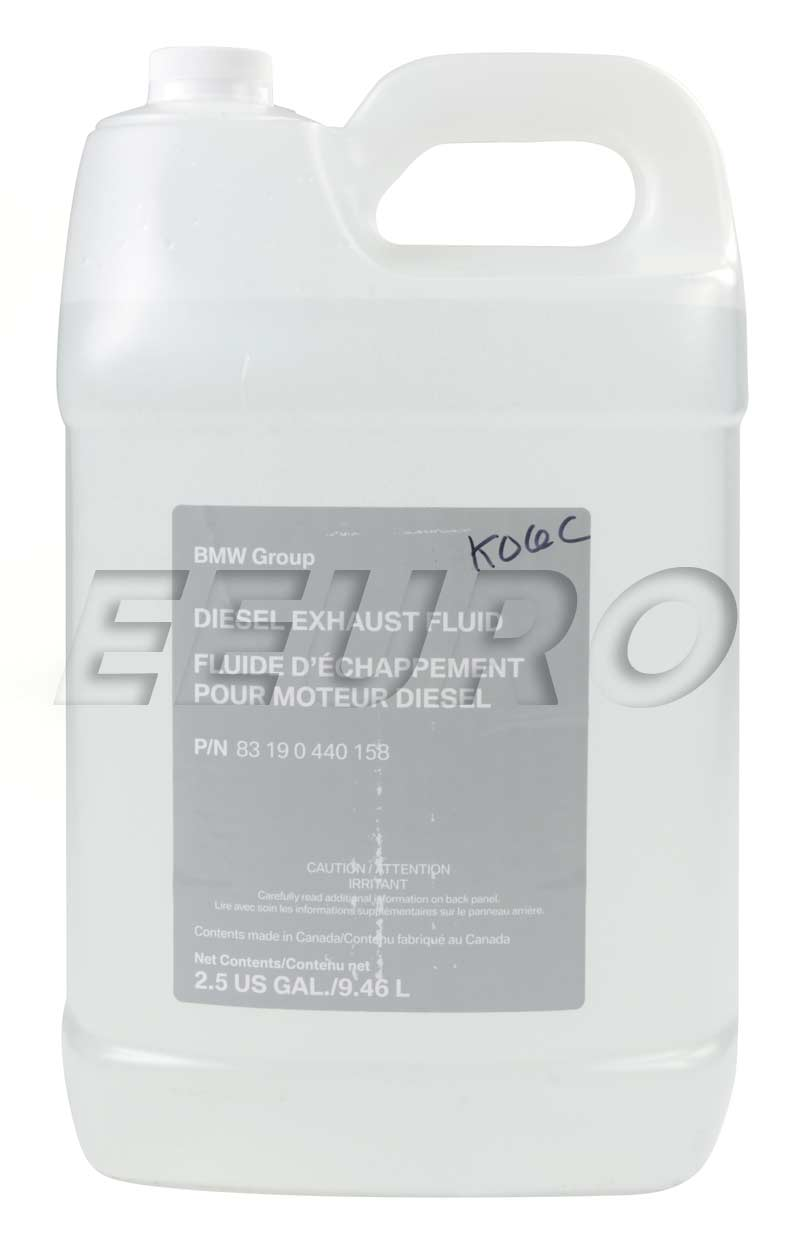 83190440158 genuine bmw diesel exhaust fluid 2 5 gallon fast shipping available. Black Bedroom Furniture Sets. Home Design Ideas