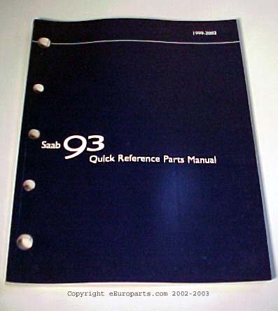 9-3 Quick parts reference manual 0220483 Main Image