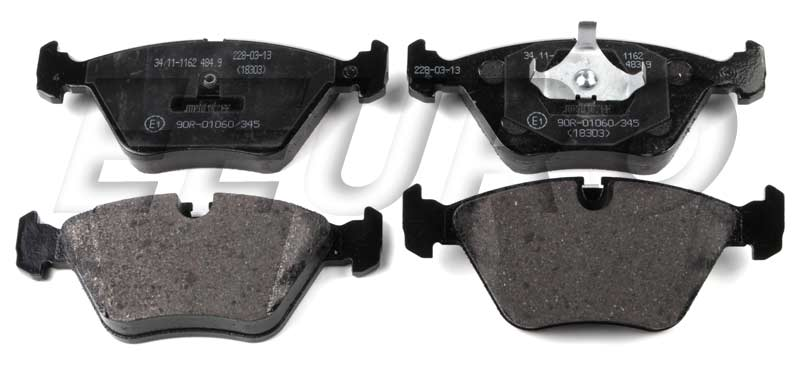 Disc Brake Pad Set - Front - Genuine BMW 34111162535