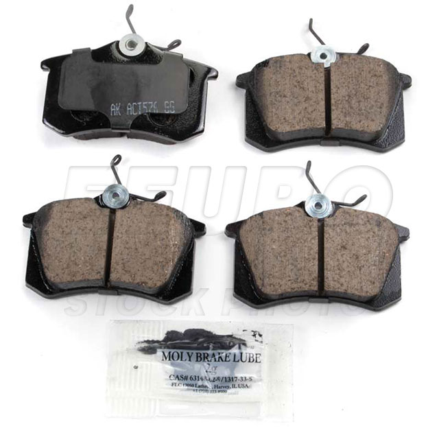 Disc Brake Pad Set - Rear - Genuine VW 1H0698451F