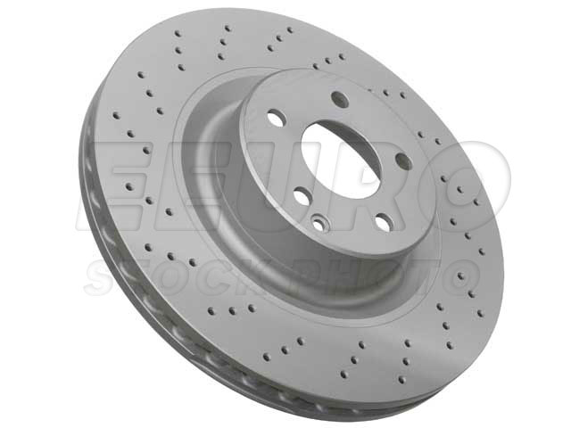 Disc Brake Rotor - Front (345mm) (Cross-drilled) 400361500 Main Image