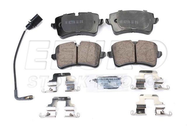 Disc Brake Pad Set - Rear - Genuine VW