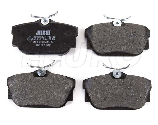 Disc Brake Pad Set - Rear - Genuine VW 7M3698451F