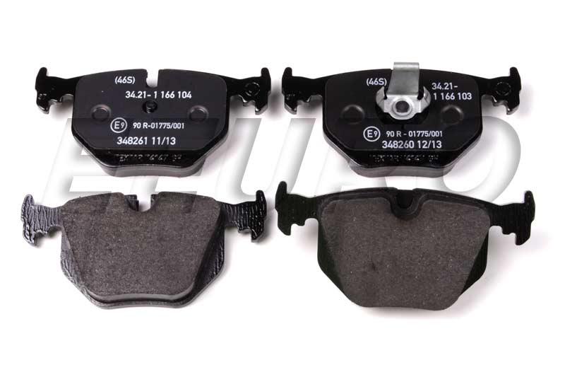 Disc Brake Pad Set - Rear - Genuine BMW 34216761240