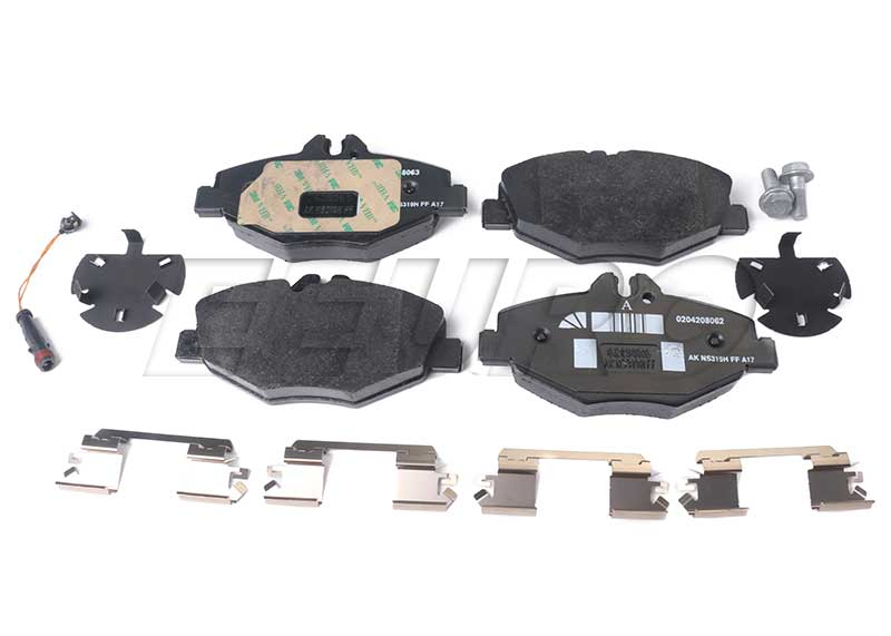 Disc Brake Pad Set - Front - Genuine Mercedes 004420792041