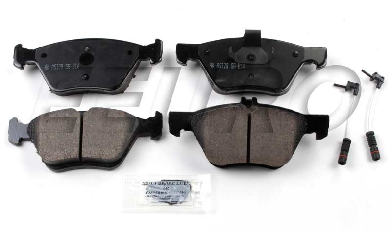 Click here for Disc Brake Pad Set - Front - Akebono EUR853 Merced... prices