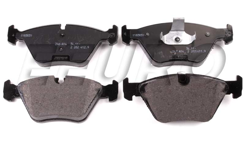 Disc Brake Pad Set - Front - Genuine BMW 34112282416