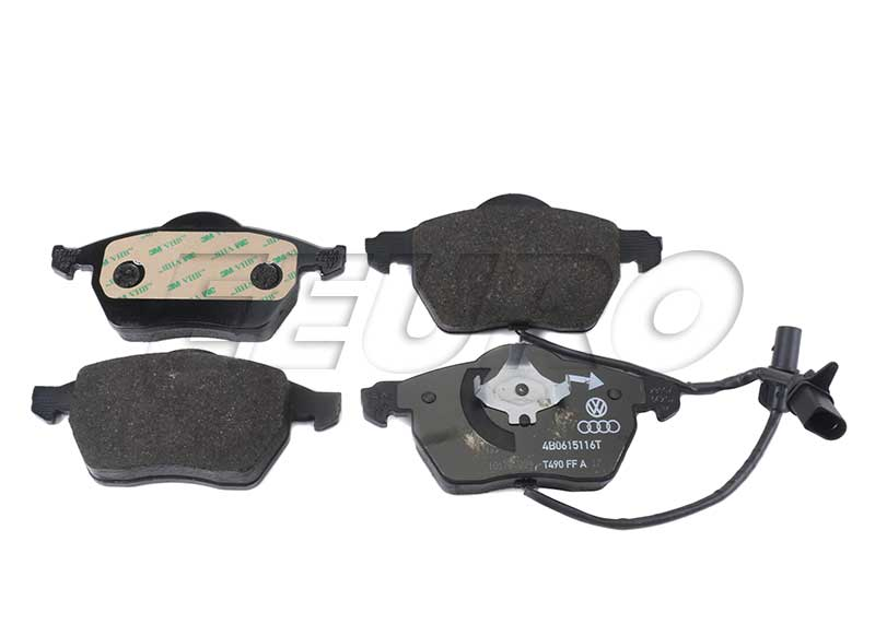 Disc Brake Pad Set - Front - Genuine VW 4B0698151AB