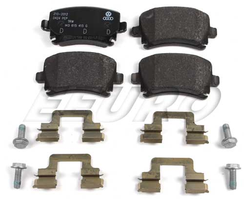 Disc Brake Pad Set - Rear - Genuine Audi 1K0698451K