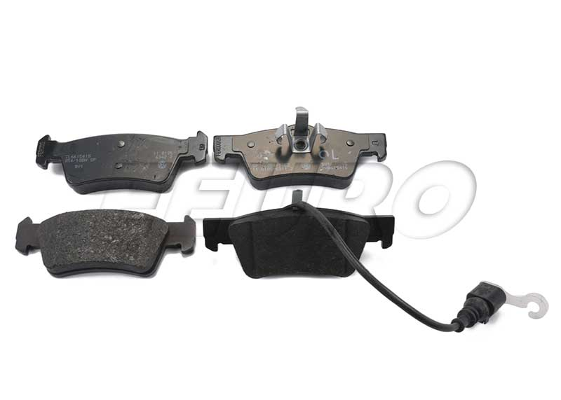 Disc Brake Pad Set - Rear - Genuine VW 7L6698451
