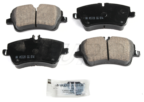 Click here for Disc Brake Pad Set - Front - Akebono EUR872 Merced... prices