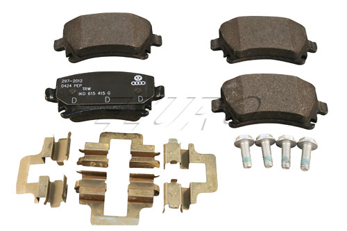 Disc Brake Pad Set - Rear - Genuine VW 1K0698451G