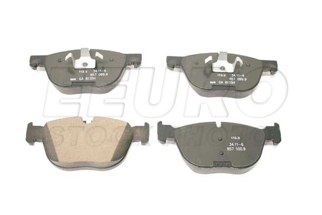 Disc Brake Pad Set - Front - Genuine BMW 34116857096