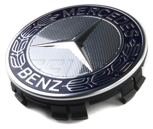 Genuine mercedes wheel center cap w emblem for Mercedes benz wheel cap emblem