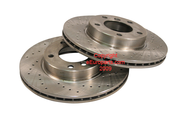 Disc Brake Rotor - Pair (Front Cross-Drilled) 34111164431CZD Main Image