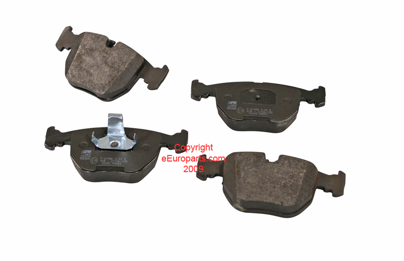 Disc Brake Pad Set - Front - Febi 16345 BMW 34116761252 16345