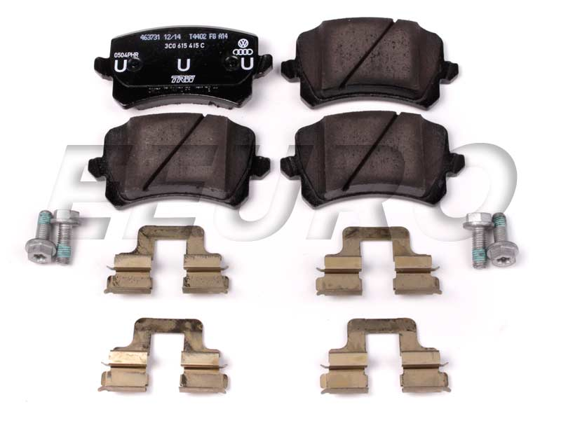 Disc Brake Pad Set - Rear 3C0698451F Main Image