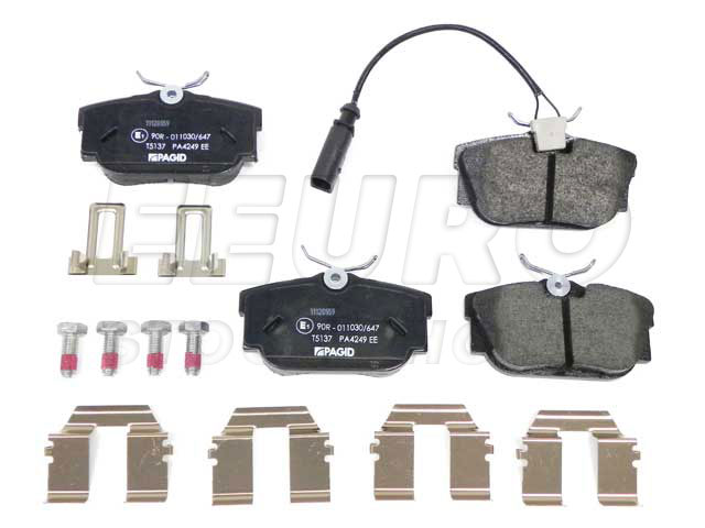 Disc Brake Pad Set - Rear - Genuine VW 7D0698451J