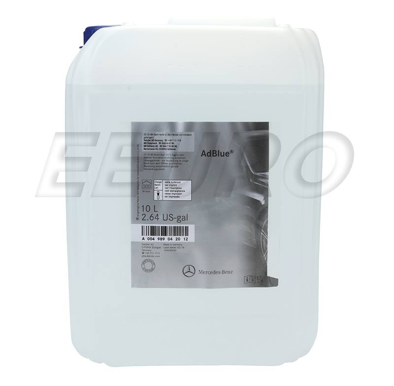 004989042012 genuine mercedes diesel exhaust fluid 2 5 gallons free shipping available. Black Bedroom Furniture Sets. Home Design Ideas