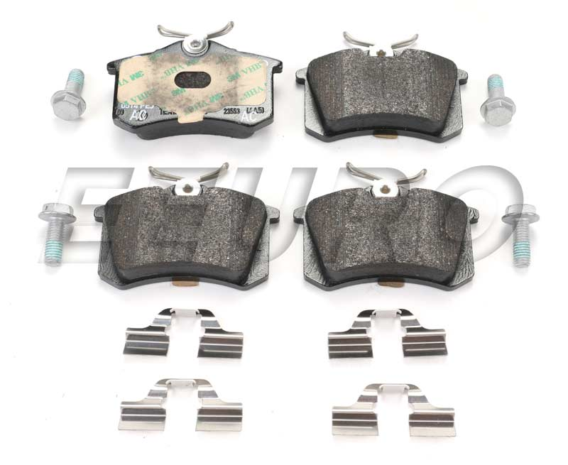 Disc Brake Pad Set - Rear - Genuine VW 1J0698451P