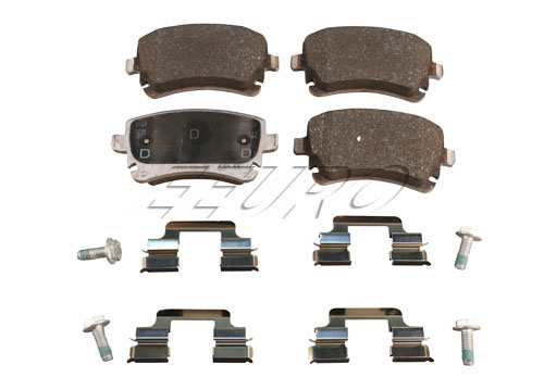 Disc Brake Pad Set - Rear - Genuine Audi 4B3698451A