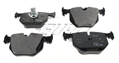 Disc Brake Pad Set - Rear - Genuine BMW 34213403241