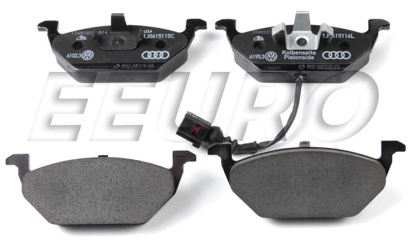 Disc Brake Pad Set - Front - Genuine VW 1J0698151F  w/ Brake pad sensor