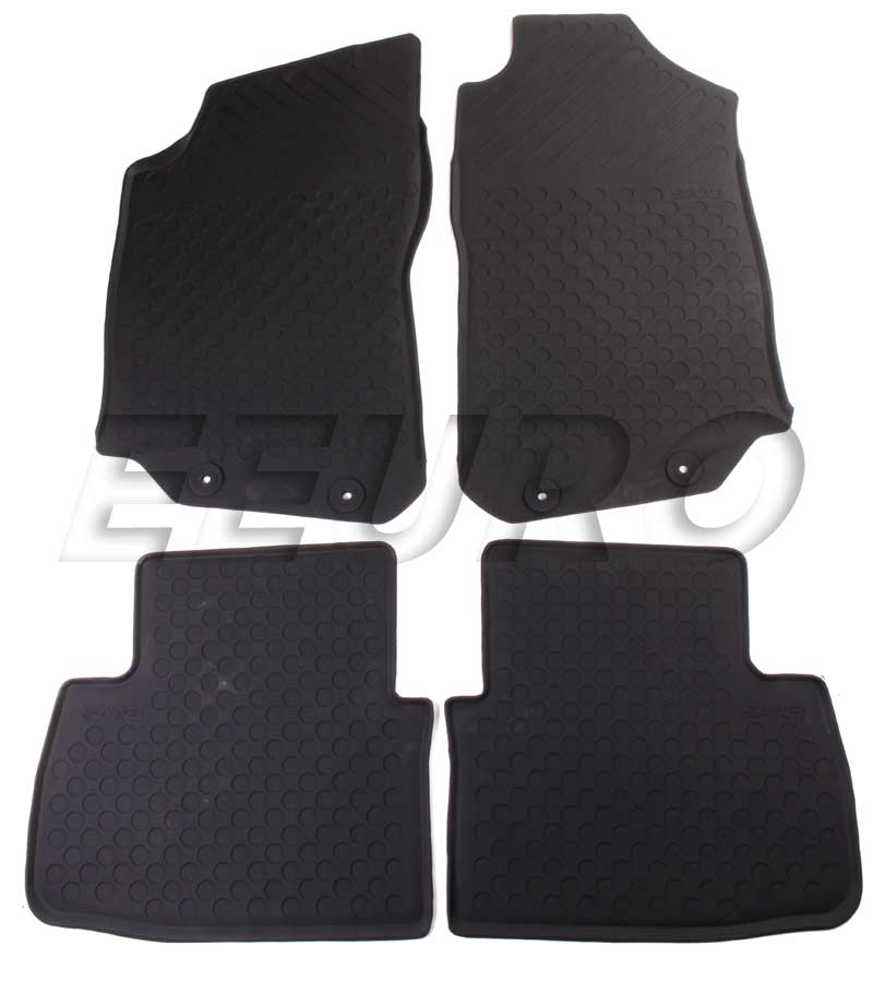 Weather Mats For Your Car >> 32026134 - Genuine SAAB - Floor Mat Set (All-Weather) (Black) - Fast Shipping Available