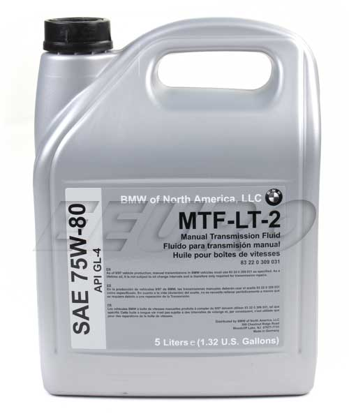 Manual Trans Fluid (Gear Oil) (LT2) (5 Liters) - Genuine BMW 83220309031 83220309031