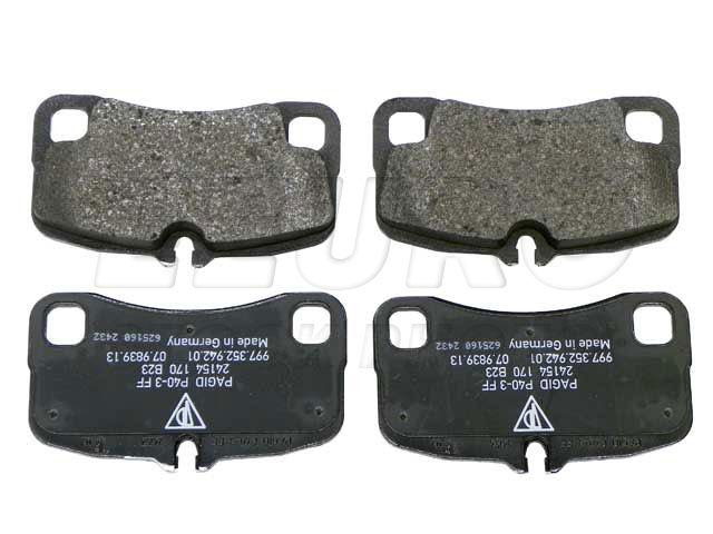 Disc Brake Pad Set - Rear - Genuine Porsche 99735294701