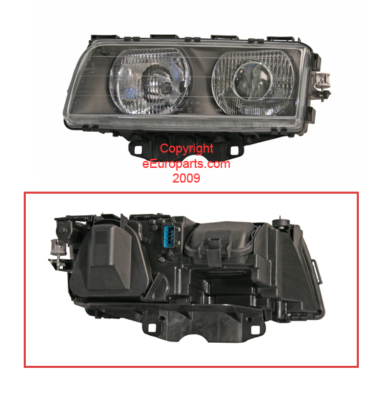 Headlight Assembly - Driver Side (Halogen) - Bosch 0302469001 BMW 63128352743 0302469001