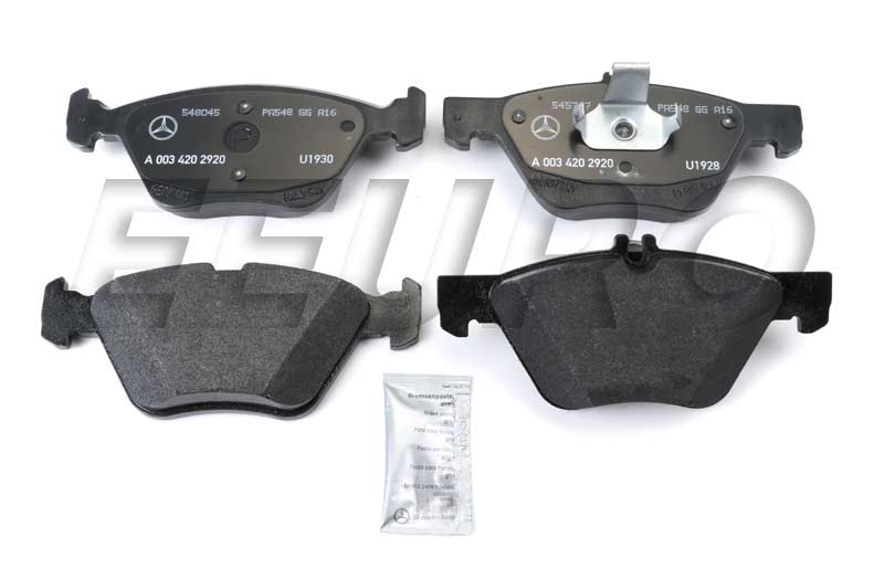 Disc Brake Pad Set - Front - Genuine Mercedes 003420292041